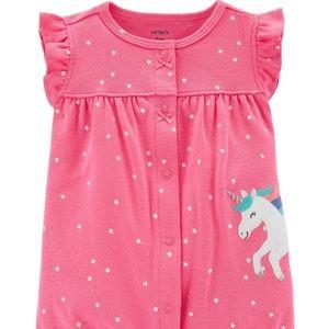 Carter's Baby Girl Unicorn Snap-Up Romper